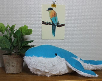 "Plush Blue Whale / / plush blue whale ""Mochi"""