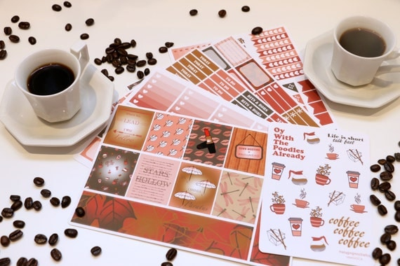 Gilmore Girls Erin Condon Planner Stickers | Gilmore Girls Gift Guide