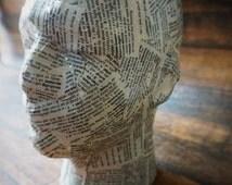 mens display head, mens model head, mens wig holder, mens beanie display, mens hat display, mens foam head, male foam display head, man head