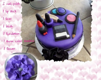 Edible Makeup Cake Topper
