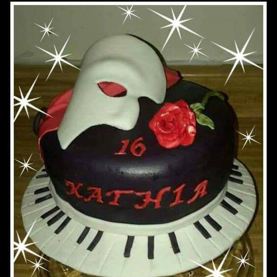 Opera Cake Decor : phantom of the opera edible cake toppers
