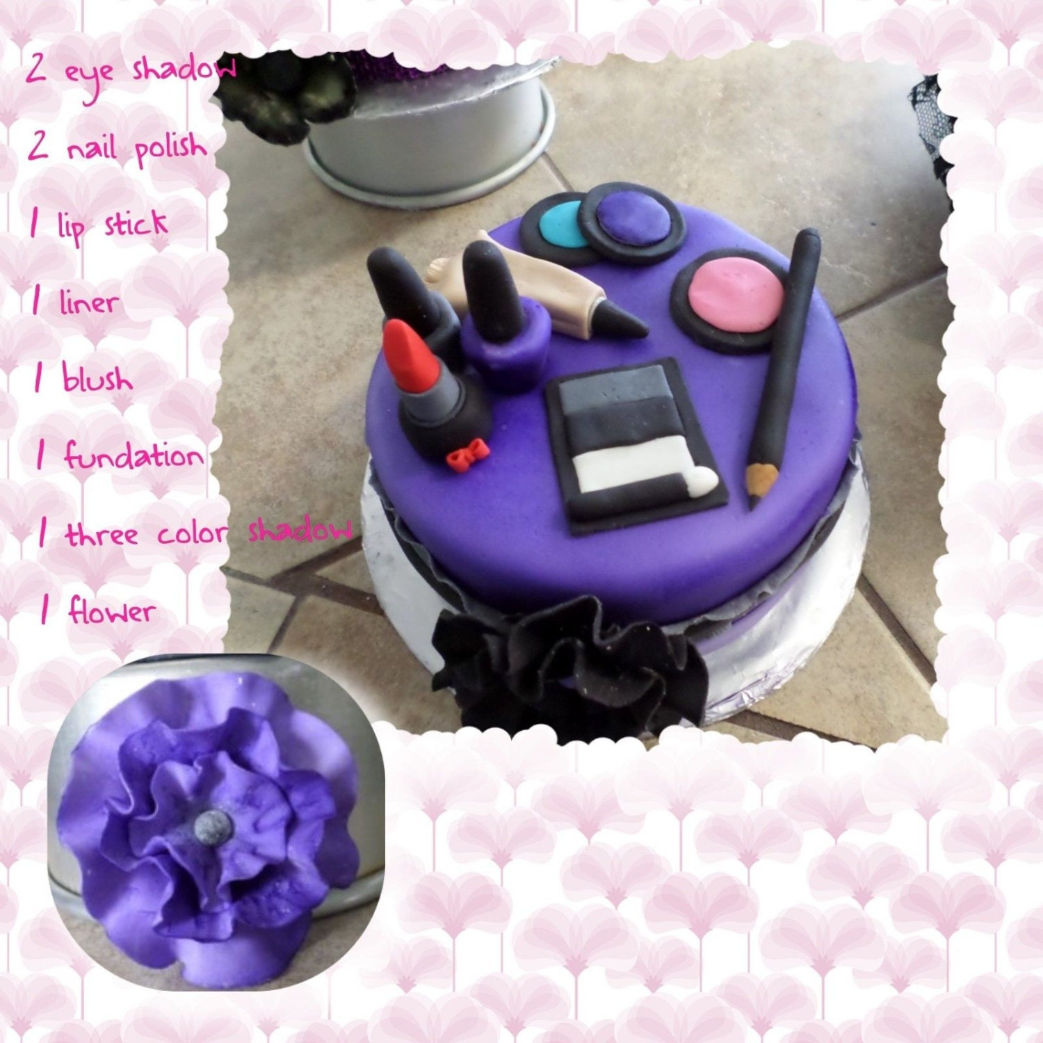 Edible Cake Images Trinidad : Edible Makeup Cake Topper from sugarcreations01 on Etsy Studio