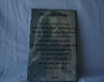 The Lords Prayer on Slate Rock