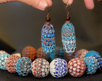 Africa Jewelry Set Bib Necklace Statement Ethnic Necklace Colorful Bead Africa Necklace Boho Necklace Blue Necklace Funky Necklace Big Bold