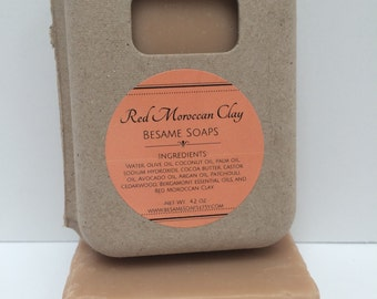 Patchouli Red Moroccan Clay/All natural/Vegan/Argan oil
