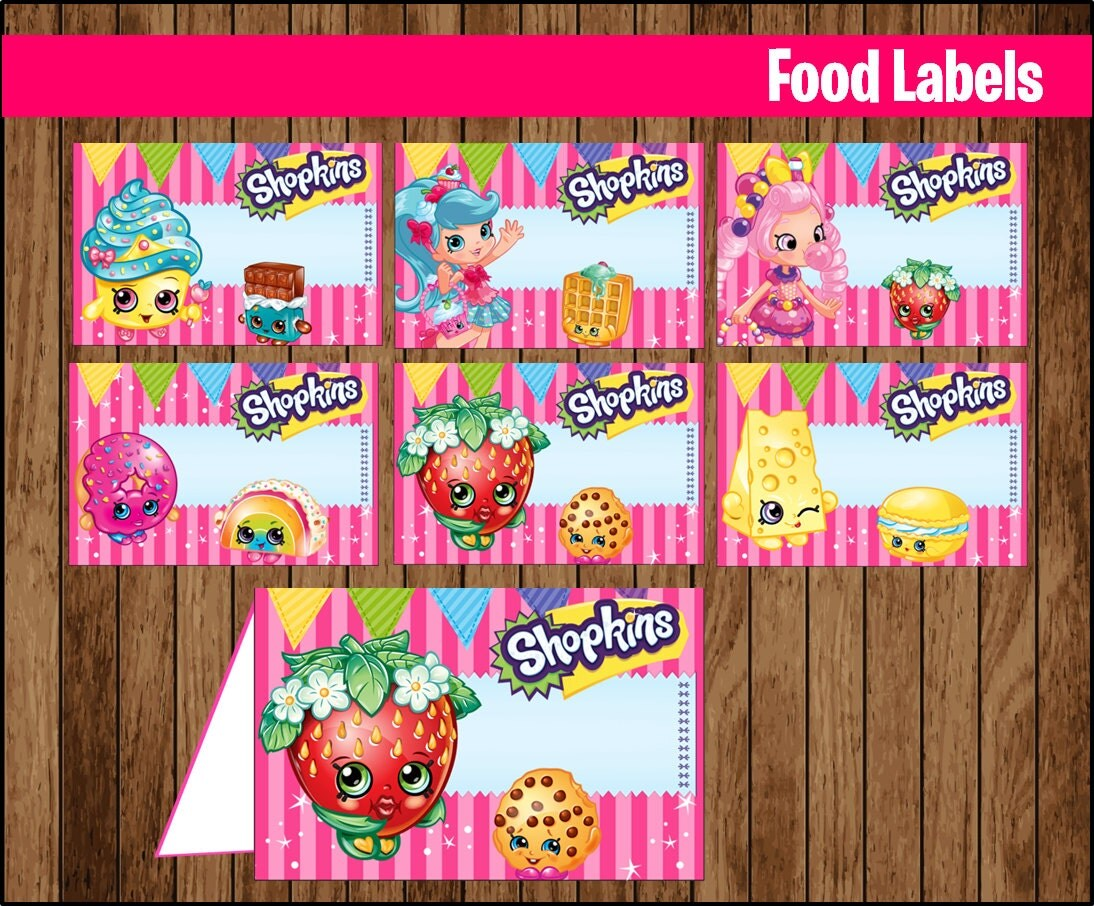 It is an image of Wild Free Printable Shopkins Food Labels