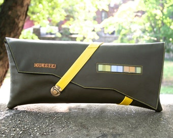 Yellow Green Strap Clutch