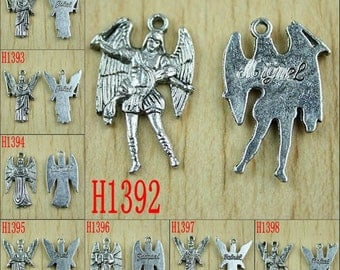 10pcs tibetan silver -tone 7 ARCHANGELs charms to choose