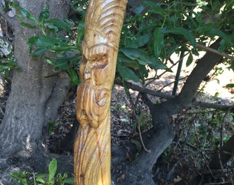 Hand carved Walking Stick / Hiking Stick