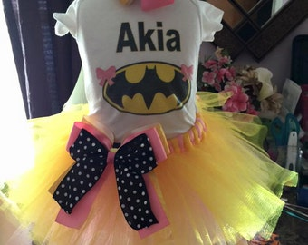 Custom Batgirl tutu set