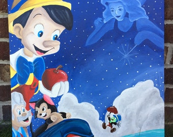 Disney Painting - Pinocchio