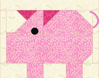 Patch Pig quilt block