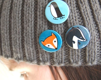 Four Cute Animal Badges