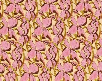 "Free Spirit Tina Givens   ""Fortiny"" Iris Garden  Field   Cotton Fabric"