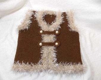 Children's knitted vest,babys'Clothing,warm vest