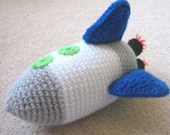 Rocket ship crochet pattern pdf instant download