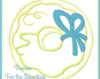 Tinker Bell Tink Tinkerbell Donut Treats Digital Embroidery Machine Applique Design File