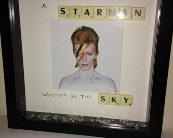 David Bowie lyric frame wall art gift