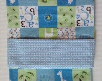 Baby blanket , reversible flannel