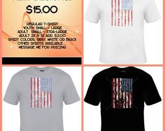 Distressed look American Flag