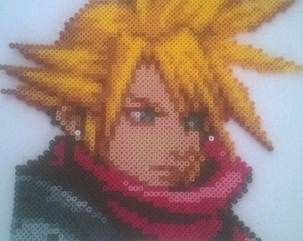 Portrait Final Fantasy VII Cloud Perler Beads / Pixel art
