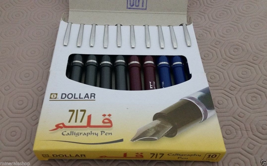 3x Professional Fountain Pen For Calligraphy Dollar 717 Qalam