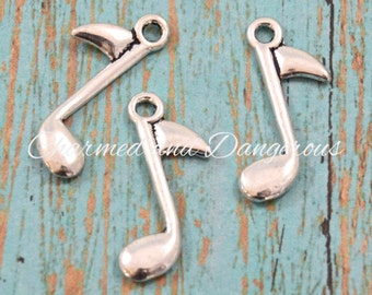10 pewter Eighth Note charms (CM234)