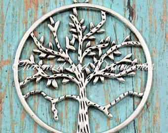 Pewter Tree of Life in Circle Pendant (P32)