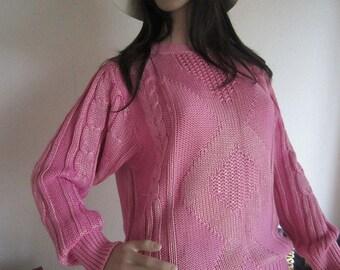 Vintage 80s oversize knit/knitted jumper