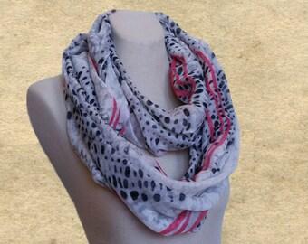 Infinity scarf lady,  Loop spring scarf, Womens circle scarf, Loop scarves , Multicolored scarf, Leopard print scarf, Women's scarf trendy