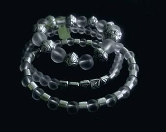 Handmade beaded bracelets set
