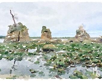Three Graces Watercolor