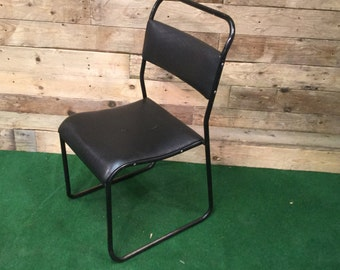 Vintage Retro Black Tubular Chair