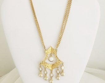 Medallion Tassel Beads Necklace