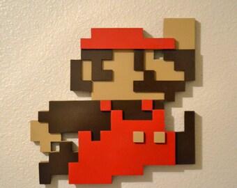 3D Super Mario 8 Bit Art