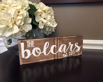 Last Name Sign, Personalized, Established Date, Wooden, handpainted