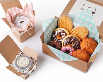 4 Kraft boxes for party favor or gift, wedding favor boxes, party favor boxes, cookie boxes, candle boxes, kraft gift boxes, kraft favor box