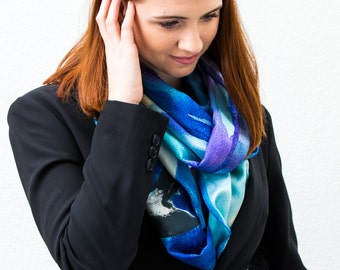 Whales and Icebergs Scarf.