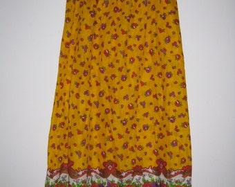 Vintage Yellow Maxi Skirt