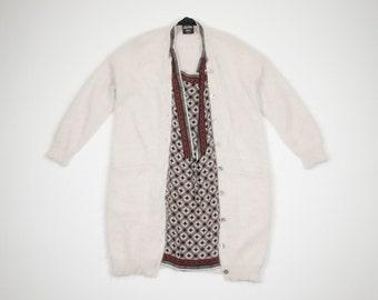 JEAN PAUL GAULTIER - Ivory dress angora wool