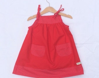 Red girls dress