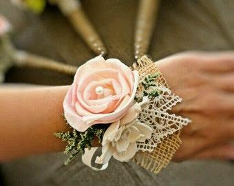 Wrist corsage.