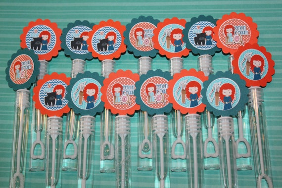 Brave merida mini bubble wand birthday party favors set of for Mini bubble wands