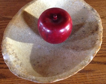 Fieldstone bowl, stone bowl, top rock, stone candy dish, stone centerpiece