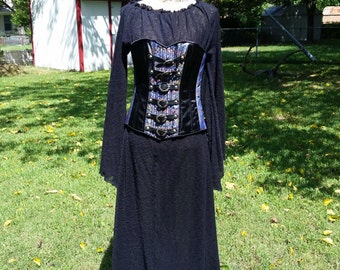 Renaissance nightgown/underdress. Black mesh.