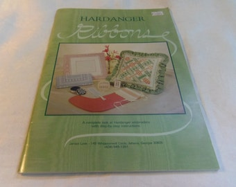 Embroidery Patterns, Hardanger Ribbons, step by step instructions 1984