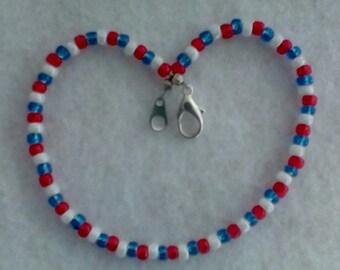 Patriotic Ankle Bracelet