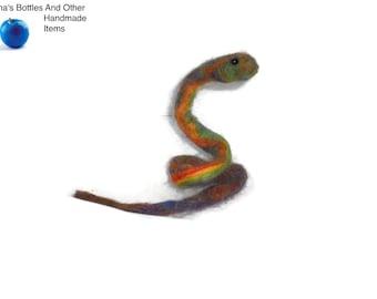 needle felted snake OOAK
