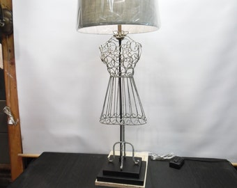 """Dressmakers Inspiration - One of A Kind Table Lamp - 43"""" Tall"""