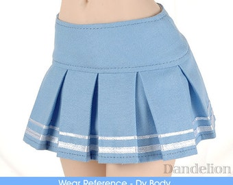 Dollfie Dream/SD/Smart Doll Accordion Mini Short Skirt (5 colors to Choose: Sky Blue/Violet/Teal/Pink/Red)